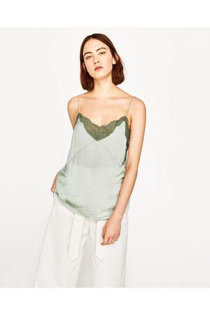 Senhora Tops & T-shirts - Zara TOP ESTILO LINGERIE