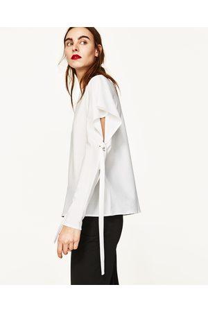 Senhora T-shirts & Manga Curta - Zara T-SHIRT COM LAÇO - Disponível em mais cores