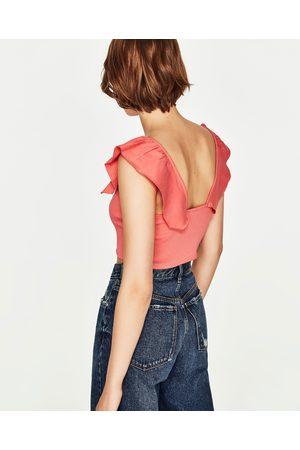 Senhora T-shirts & Manga Curta - Zara TOP CURTO FOLHO - Disponível em mais cores