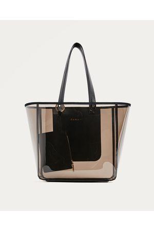 63c16bbe8 Senhora Shoppers - Zara SHOPPER TRANSPARENTE - Disponível em mais cores