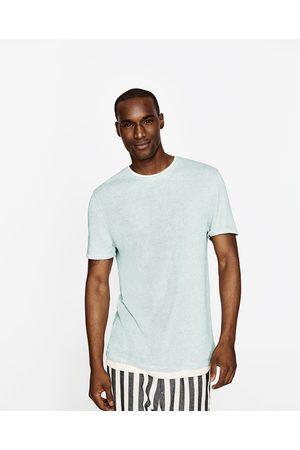 Homem T-shirts & Manga Curta - Zara T-SHIRT DE LINHO - Disponível em mais cores