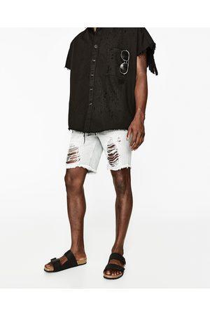Homem Bermudas - Zara BERMUDAS DE GANGA DESTROY - Disponível em mais cores