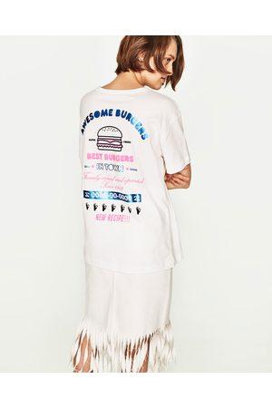 Senhora T-shirts & Manga Curta - Zara T-SHIRT ESTAMPADA
