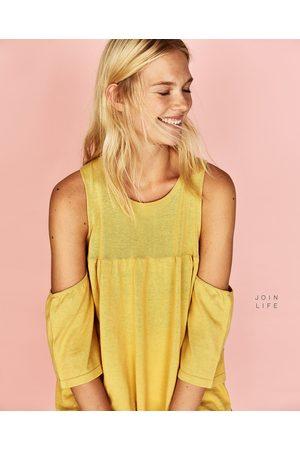 Senhora Tops de Cavas - Zara TOP OMBROS CUT OUT - Disponível em mais cores