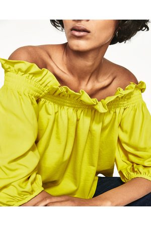 Senhora Tops de Cavas - Zara TOP OMBROS DESCOBERTOS - Disponível em mais cores