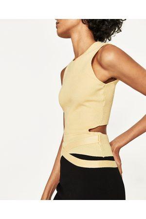 Senhora Tops de Cavas - Zara TOP COSTAS CUT OUT COM FITAS - Disponível em mais cores