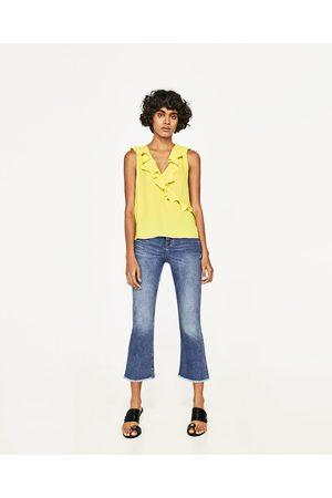 Senhora Tops de Cavas - Zara TOP DECOTE FOLHOS - Disponível em mais cores
