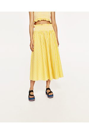 Senhora Tops de Cavas - Zara SAIA E TOP QUADRADOS VICHY - Disponível em mais cores