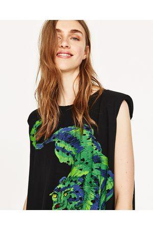 Senhora T-shirts & Manga Curta - Zara T-SHIRT OMBREIRAS