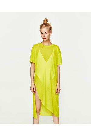 Senhora T-shirts & Manga Curta - Zara T-SHIRT COMPRIDA SEMITRANSPARENTE NÉON - Disponível em mais cores