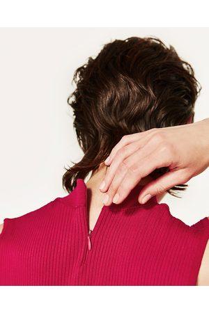 Senhora Tops de Cavas - Zara TOP CROPPED GARGANTILHA - Disponível em mais cores