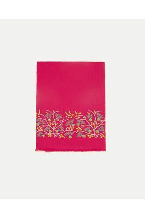 Senhora Cachecóis & Echarpes - Zara SPECIAL EDITION EMBROIDERED SCARF - Disponível em mais cores