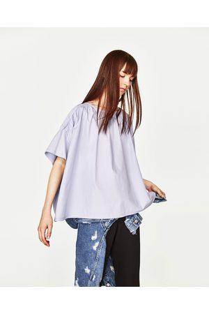Senhora T-shirts & Manga Curta - Zara T-SHIRT VOLUME COMBINADA