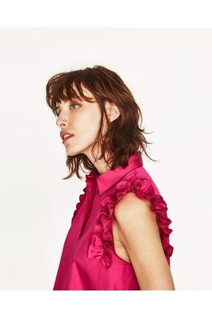 Senhora Formal - Zara CAMISA C/ FOLHO - Disponível em mais cores
