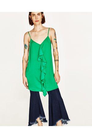 Senhora Tops de Cavas - Zara TOP COMBINADO FOLHO - Disponível em mais cores