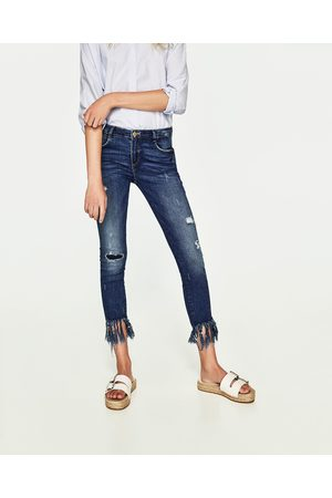 Senhora Skinny - Zara CALÇAS DE GANGA POWER STRETCH SKINNY DAMAGES