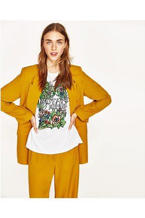 Senhora T-shirts & Manga Curta - Zara T-SHIRT ESTAMPADO FLORAL - Disponível em mais cores