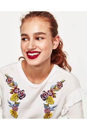 Senhora T-shirts & Manga Curta - Zara T-SHIRT BORDADA