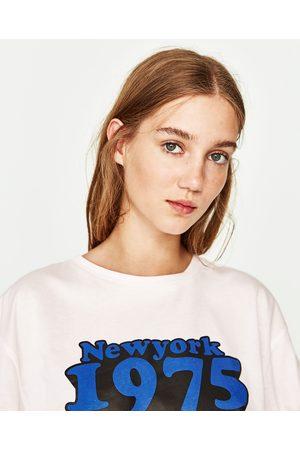 Senhora T-shirts & Manga Curta - Zara T-SHIRT ESPARTILHO