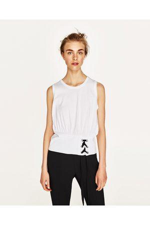 Senhora T-shirts & Manga Curta - Zara T shirt espartilho