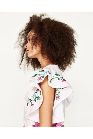 Senhora T-shirts & Manga Curta - Zara T-SHIRT FLORES