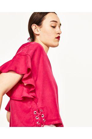 Senhora Blusas - Zara BLUSA C/ FOLHOS - Disponível em mais cores