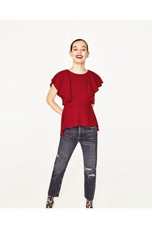 Senhora Formal - Zara BLUSA FOLHOS - Disponível em mais cores