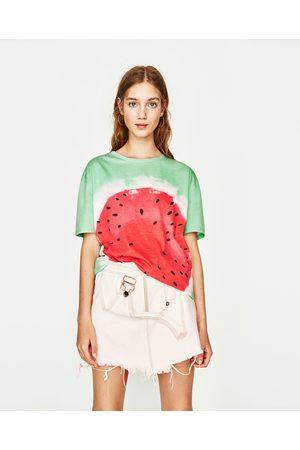 Senhora T-shirts & Manga Curta - Zara T-SHIRT MELANCIA
