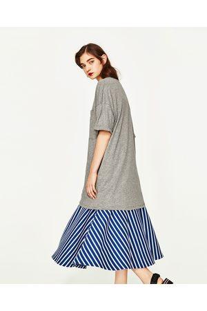 Zara VESTIDO T-SHIRT OVERSIZE - Disponível em mais cores