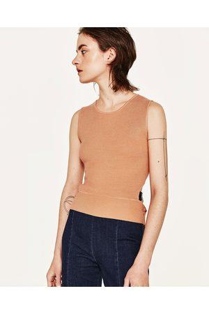 Zara TOP COSTAS CUT OUT COM FITAS - Disponível em mais cores