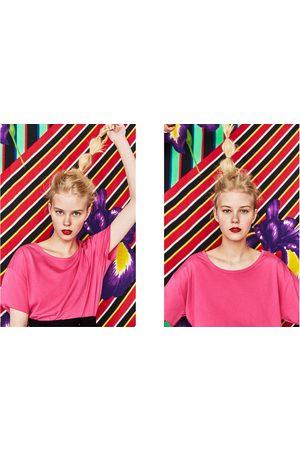 Zara T-SHIRT ALGODÃO BÁSICA - Disponível em mais cores