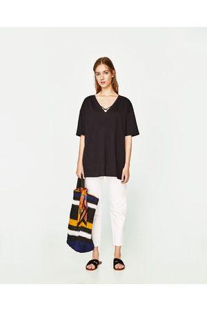 Zara T-SHIRT TIRAS CRUZADAS - Disponível em mais cores