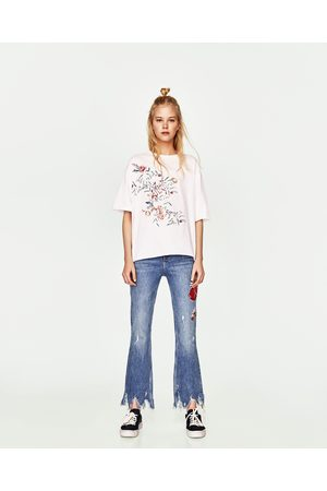 Zara T-SHIRT PORMENOR BORDADO