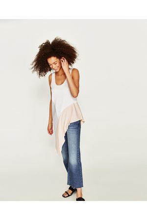 Zara T-SHIRT BAINHA ASSIMÉTRICA - Disponível em mais cores