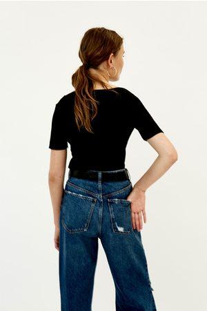Zara T-SHIRT CANALÉ - Disponível em mais cores