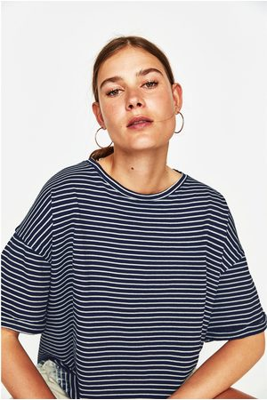 Zara T-SHIRT RISCAS DIP DYE