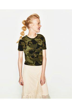 Zara T-SHIRT C/ ESTAMPADO - Disponível em mais cores