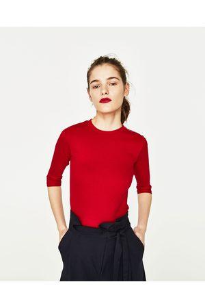 Zara T-SHIRT DETALHE FECHO DE CORRER - Disponível em mais cores