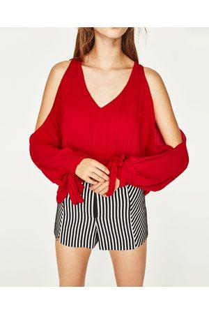 Zara BLUSA OMBROS DESCOBERTOS - Disponível em mais cores