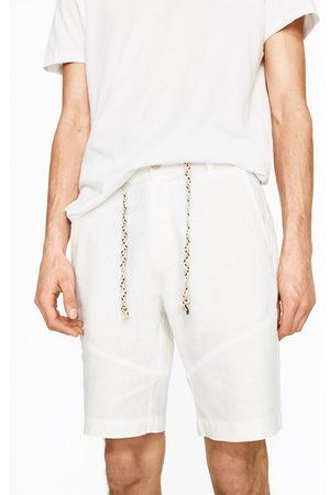 Homem Bermudas - Zara BERMUDAS DE LINHO - Disponível em mais cores