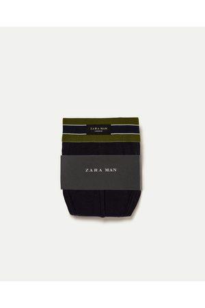 Homem Lingerie & Roupa Interior - Zara SLIP COM CINTURA VERDE - Disponível em mais cores