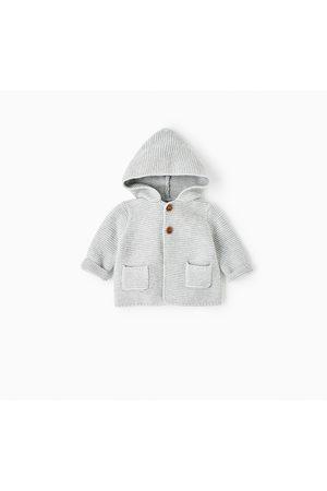 Bebé Cardigans - Zara CASACO DE MALHA CAPUZ - Disponível em mais cores