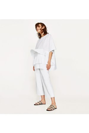Zara T-SHIRT FOLHOS POPELINA - Disponível em mais cores