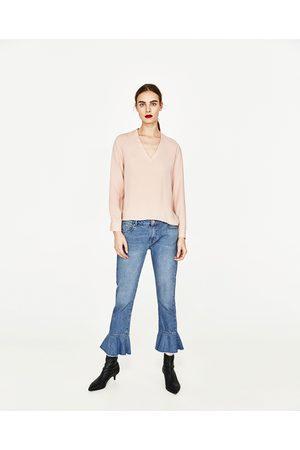Zara BLUSA C/DECOTE EM V - Disponível em mais cores