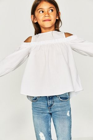 Zara CAMISA DE POPELINA OFF SHOULDERS