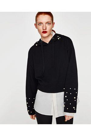 Zara SWEATSHIRT PÉROLAS CAPUZ - Disponível em mais cores