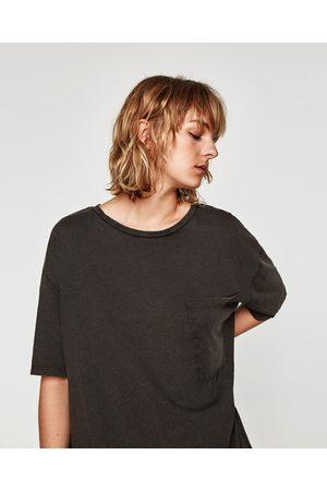 Zara T-SHIRT OVERSIZE TEXTURA - Disponível em mais cores