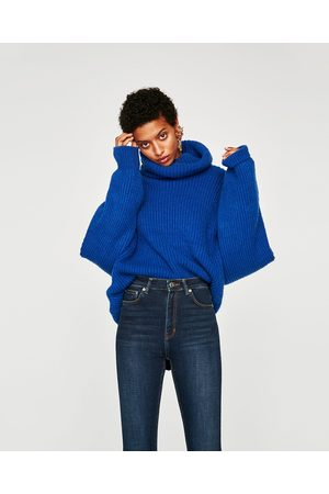 Zara JEANS THE HIGH WAIST BI STRETCH TRUE BLUE