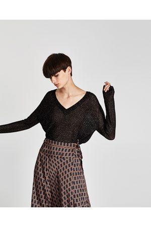 Zara CAMISOLA LANTEJOULAS - Disponível em mais cores