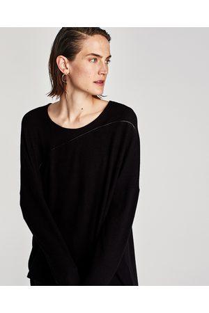 Zara SWEATER ASSIMÉTRICA VIVO A CONTRASTAR - Disponível em mais cores